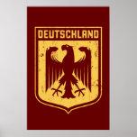 Deutschland Eagle - escudo de armas alemán Poster
