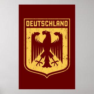 Deutschland Eagle - escudo de armas alemán Póster