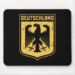 Deutschland Eagle - escudo de armas alemán Alfombrillas De Ratón