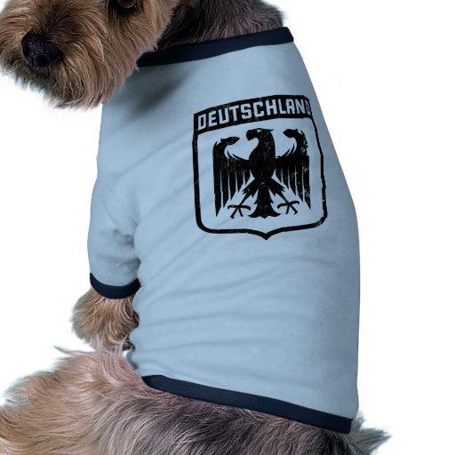 Deutschland Eagle - escudo de armas de Alemania Camiseta Con Mangas Para Perro