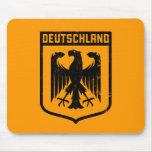 Deutschland Eagle - escudo de armas de Alemania Tapetes De Raton