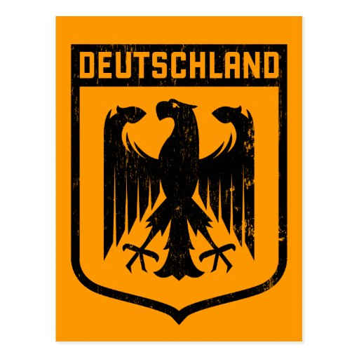 Deutschland Eagle - escudo de armas de Alemania Tarjeta Postal