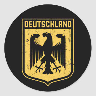 Deutschland Eagle -  German Coat of Arms Classic Round Sticker