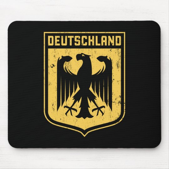 Deutschland Eagle -  German Coat of Arms Mouse Pad