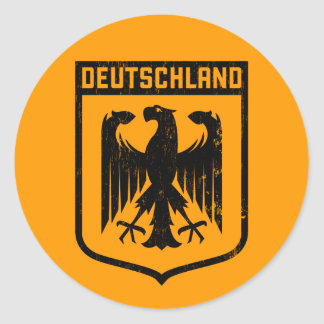 Deutschland Eagle -  Germany Coat of Arms Classic Round Sticker