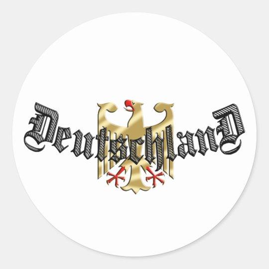 Deutschland Eagle logo tees and presents Classic Round Sticker