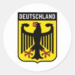 Deutschland Etiqueta Redonda