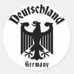 Deutschland Etiquetas Redondas