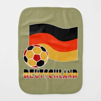 Deutschland Flag and Soccer Ball Burp Cloths
