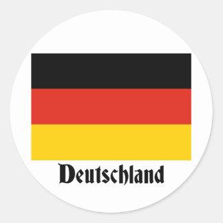 Deutschland Flag Classic Round Sticker