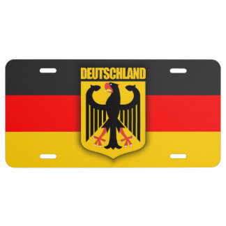 Deutschland Flag & Coat of Arms License Plate