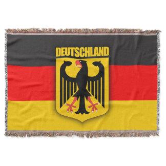 Deutschland Flag & Coat of Arms Throw Blanket
