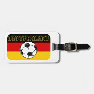 DEUTSCHLAND FLAG | FOOTBALL LUGGAGE TAG
