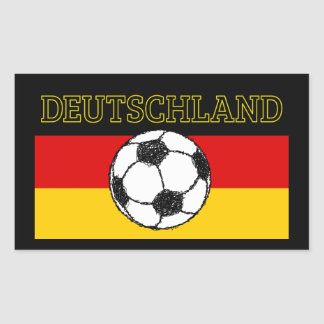 DEUTSCHLAND FLAG | FOOTBALL RECTANGULAR STICKER