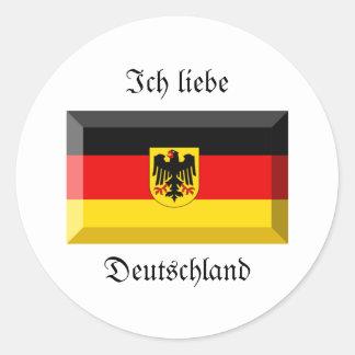 Deutschland Flag Gem Sticker