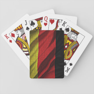 Deutschland flag playing cards