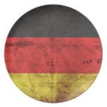Deutschland Flagge Dinner Plates
