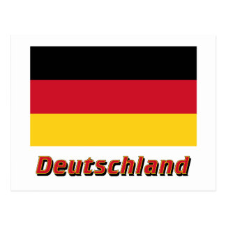 deutschland flagge postcards zazzle. Black Bedroom Furniture Sets. Home Design Ideas