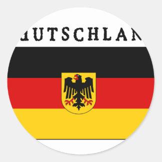 Deutschland Flagge Pegatina Redonda