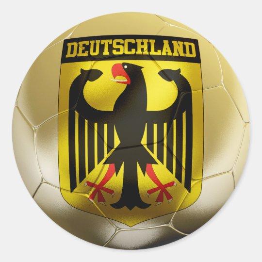 Deutschland Football Classic Round Sticker