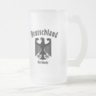 Deutschland Frosted Glass Beer Mug