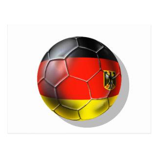 Deutschland Fußball 2010 soccer ball gifts Postcard