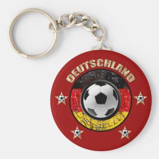 Deutschland Fussball Flagge Vier Sterne Llavero Redondo Tipo Pin