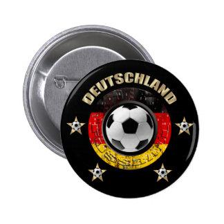 Deutschland Fussball Flagge Vier Sterne Pin Redondo De 2 Pulgadas