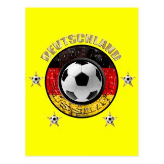 Deutschland Fussball Flagge Vier Sterne Postcard