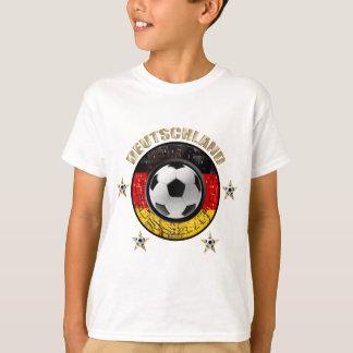 Deutschland Fussball Flagge Vier Sterne T-Shirt