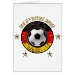 Deutschland Fussball Flagge Vier Sterne Tarjeta De Felicitación