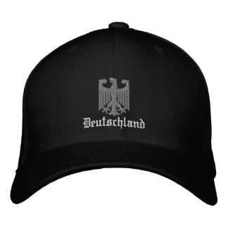 "Deutschland ""German Coat of Arms"" Embroidered Embroidered Baseball Hat"