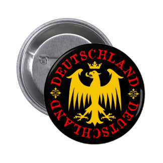 Deutschland German Eagle Emblem Button