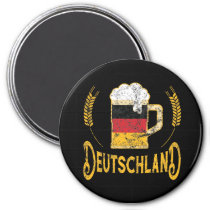 Deutschland German Flag Beer Lover Oktoberfest Magnet
