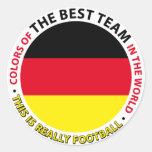 Deutschland-Germany-Alemania Art Shield Etiqueta Redonda
