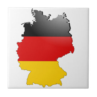 Deutschland (Germany) and Flag Ceramic Tile