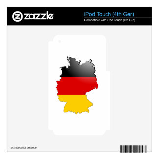 Deutschland (Germany) and Flag iPod Touch 4G Decals