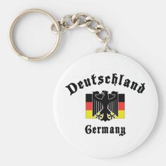 Deutschland Germany Flag Basic Round Button Keychain