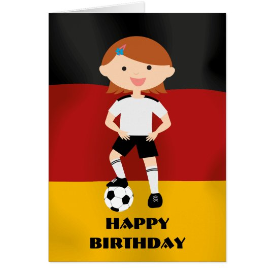 Deutschland Germany Fußball Mädchen 3 Card