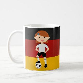 Deutschland Germany Fußball Mädchen 3 Coffee Mug