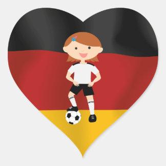 Deutschland Germany Fußball Mädchen 3 Heart Sticker