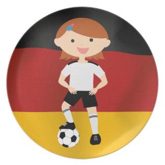 Deutschland Germany Fußball Mädchen 3 Melamine Plate