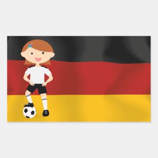 Deutschland Germany Fußball Mädchen 3 Rectangular Sticker