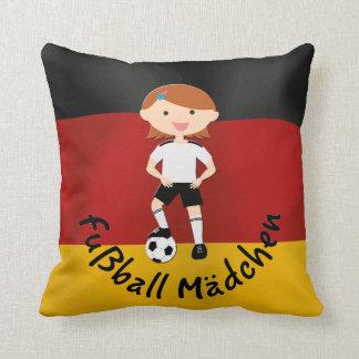 Deutschland Germany Fußball Mädchen 3 Throw Pillow
