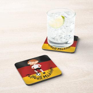 Deutschland Germany Fußball Mädchen 3 v2 Beverage Coaster