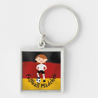 Deutschland Germany Fußball Mädchen 3 v2 Keychain