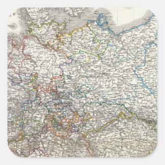 Deutschland - Germany Square Sticker