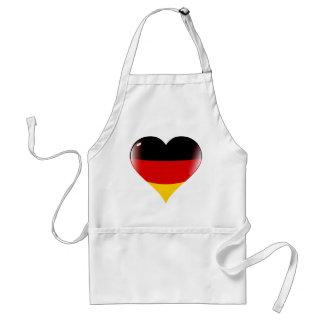 Deutschland heart adult apron