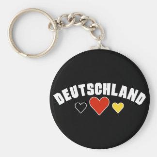 Deutschland Hearts Keychain