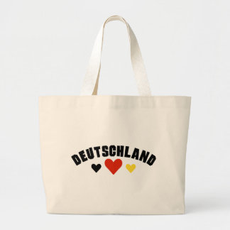 Deutschland Hearts Large Tote Bag